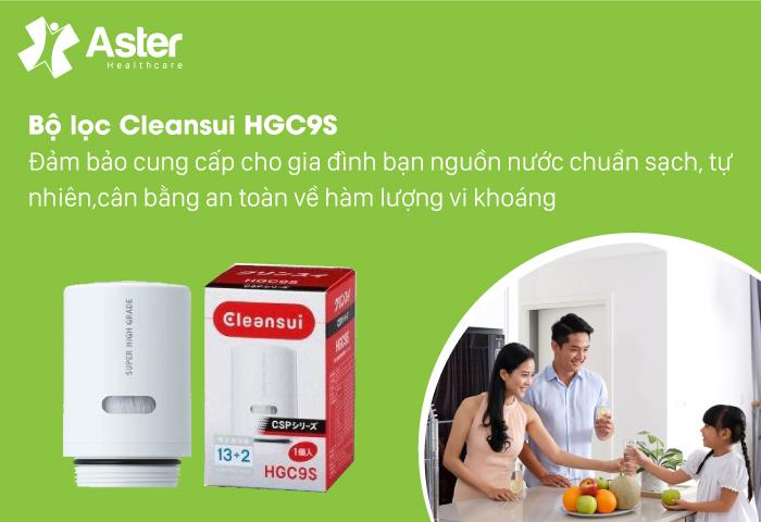 Bộ lọc Cleansui HGC9S đảm bảo cung cấp cho gia đình bạn nguồn nước sạch